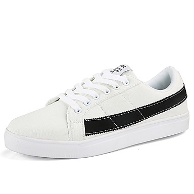Men's Comfort Pink Shoes Canvas Fall Sneakers Pink Comfort / White / Black / White / White / Green 34d5f2