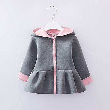 dcce57a22aed1 Kids Girls  Vintage Solid Colored Long Sleeve Cotton Jacket   Coat Pink