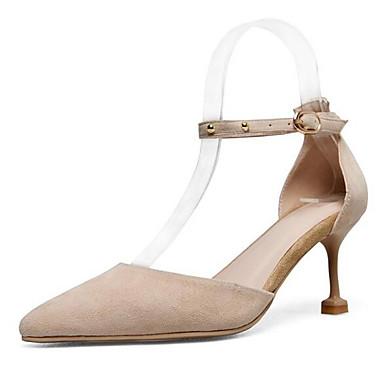 Printemps Talons Daim Confort Chaussures Rose 06862610 Chaussures Amande Noir à Aiguille Femme Talon xTEfBOqYn