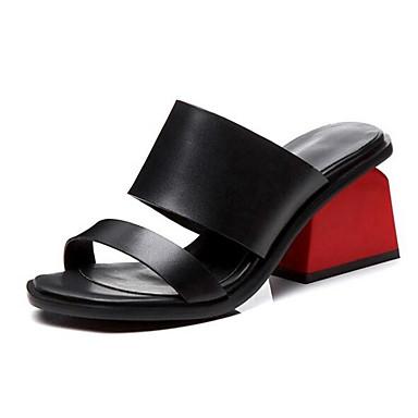 Cuir Talon Noir Printemps Blanc Confort Chaussures 06849502 Sandales Femme Nappa Bottier YAqBS5xW1w