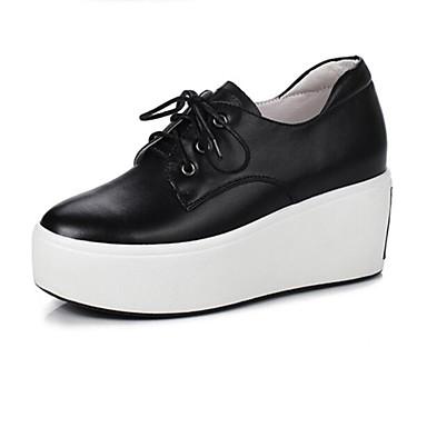 Femme Blanc Bout Chaussures Printemps 06848827 Basket Creepers Noir Eté rond Confort Polyuréthane rarz6nq0wZ