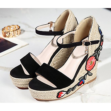 06854686 compensée Eté Confort mouton Noir Chaussures Peau de de Gris Brun Sandales claire Hauteur Femme semelle XqwvZxX
