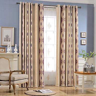 Fatto su misura oscurante blackout tende tende due pannelli taglia personalizzata viola chiaro - Tende viola per camera da letto ...