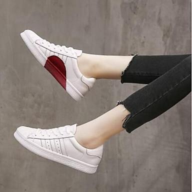 fermé Femme Plat 06841838 Printemps Talon Chaussures Bout Basket Eté Cuir Blanc Confort Nappa r8vqr6