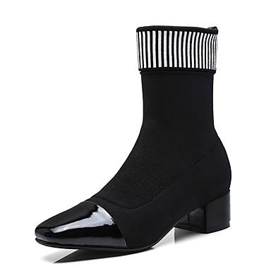 hiver Noir Bottes Femme Cuir Bottier Nappa Automne Talon 06848309 Chaussures Confort wxqFaTqIz