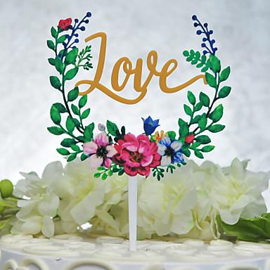 Decoración de Pasteles Tema Jardín Tema Floral Tema Clásico tema de la vendimia Pareja Clásica Acrílico Boda Despedida de Soltera Con