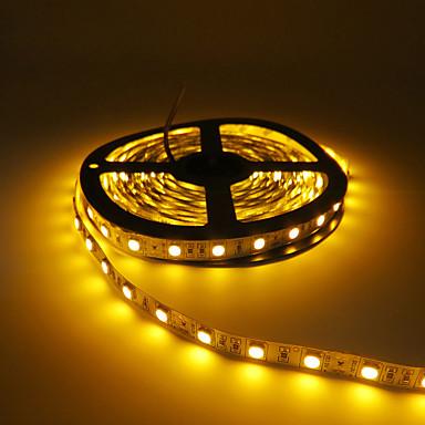 hkv 5m bandes lumineuses led flexibles 300 led 5050 smd rouge jaune vert d coupable. Black Bedroom Furniture Sets. Home Design Ideas
