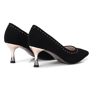 Chaussures Noir Femme Talon mouton 06862480 Talons Aiguille de Printemps à Basique Peau Escarpin Chaussures 6fdfapq