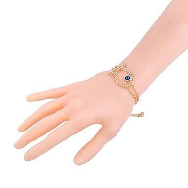 abordables Bracelet-Bracelet Femme Tendance Strass Poissons dames Elégant Classique Bracelet Bijoux Dorée pour Quotidien