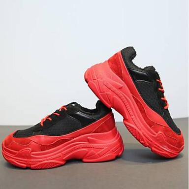 Talon Noir Cuir 06856614 Bout Plat Chaussures Femme Rouge Confort Nappa Daim Printemps Eté fermé Basket w8qx6E4q7