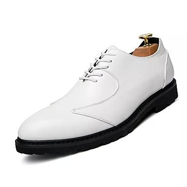 Homme Faux Cuir / Polyuréthane Automne Confort Oxfords Blanc Marron / Noir / Marron Blanc 30e2ee