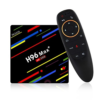 H96 Max 4G+64G TV Box / Air Mouse Android 8.1 TV Box / Air Mouse RK3328 4GB RAM 64GB ROM Core Octa Control Voce