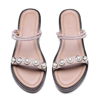 Eté Noir Femme Plat Rose Talon Daim Sandales Confort 06848649 Chaussures 7Awnq0fwE