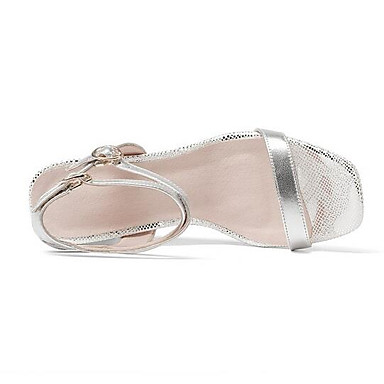 de Femme semelle Cuir Eté Hauteur compensée Sandales Nappa Argent Chaussures Confort Noir 06862163 xU06g