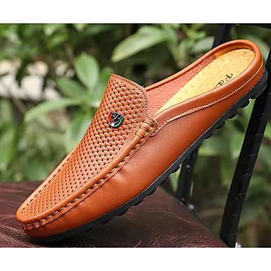 Cuir Blanc Sabotamp; Mules Printemps De Confort Homme Chaussures XZN8Oknw0P