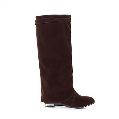 Marron Rouge Hauteur Bottes Automne Polyuréthane de Femme Bottes Chaussures la Mode Noir 06857300 compensée Bottes semelle à hiver wZqaHC