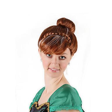 Synteettiset peruukit / Pilailuperuukit Suora Tyyli Bob-leikkaus Koneella valmistettu Peruukki Ruskea Ruskea / valkoinen Synteettiset hiukset 16 inch Naisten Anime / Cosplay / Naisten Ruskea Peruukki