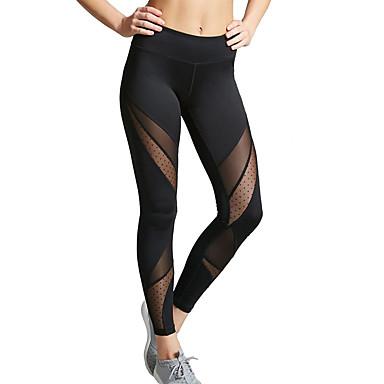 Femme Transparent Pantalon de yoga Noir Des sports Tache Maille Collants  Leggings Zumba Danse Course   Running Tenues de Sport Respirable Evacuation  de ... 3be5e4f65e4