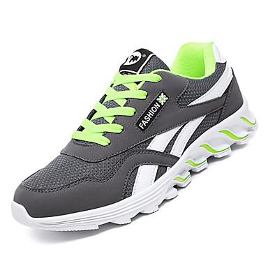 Homme Chaussures de confort Polyuréthane Automne Sportif Chaussures d'Athlétisme Course Course Course à Pied Ne glisse pas Couleur Pleine Noir / Bleu de minuit / Gris   Prix D'aubaine  d0bf7a