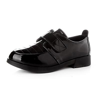 baratos Sapatos de Criança-Para Meninas Couro Ecológico Oxfords Little Kids (4-7 anos) / Big Kids (7 anos +) Conforto Caminhada Preto Primavera / Outono / Festas & Noite