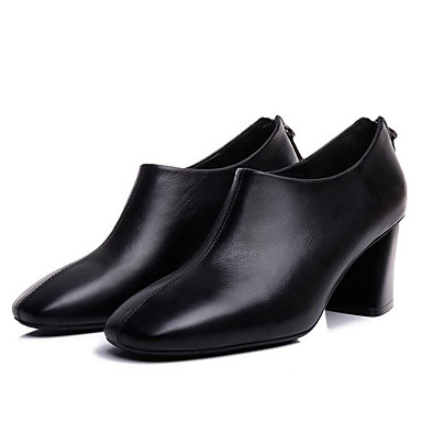 Women's Bootie PU(Polyurethane) Fall Fall PU(Polyurethane) British Boots Chunky Heel Booties / Ankle Boots Black 9655c1