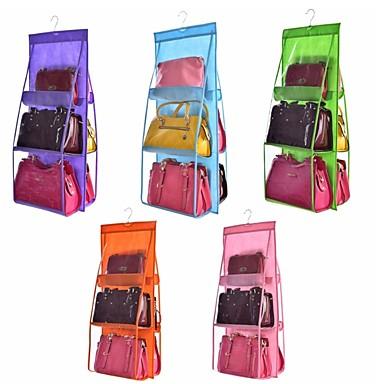 povoljno Dom i vrt-dvostruka strana prozirna 6 džepna sklopiva vješalica torbica torbica torba za spremanje raznovrsna uredna organizator ormar ormar vješalica