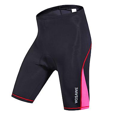 WOSAWE Mujer Pantalones Acolchados de Ciclismo Bicicleta Shorts / Malla corta / Prendas de abajo Resistente al Viento, Transpirable, Secado rápido Rayas, Clásico Poliéster, Licra Negro / Rojo / Verde