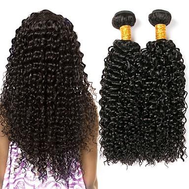 baratos Extensões de Cabelo Natural-3 pacotes Cabelo Vietnamita Kinky Curly 8A Cabelo Humano Extensor Cabelo Bundle Extensões de Cabelo Natural 8-28 polegada Côr Natural Tramas de cabelo humano Feminino extensão Melhor qualidade