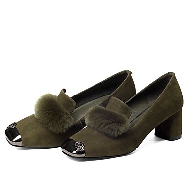 b7f502f10ac Χαμηλού Κόστους Γυναικεία Παπούτσια-Γυναικεία Παπούτσια άνεσης Γούνα  Κουνελιού / Σουέτ Άνοιξη Γλυκός Τακούνια Κοντόχοντρο