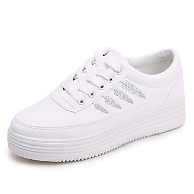 Ambizioso Per Donna Scarpe Comfort Pu (poliuretano) Primavera Sneakers Piatto Bianco - Rosa E Bianco - Bianco - Giallo #06915783