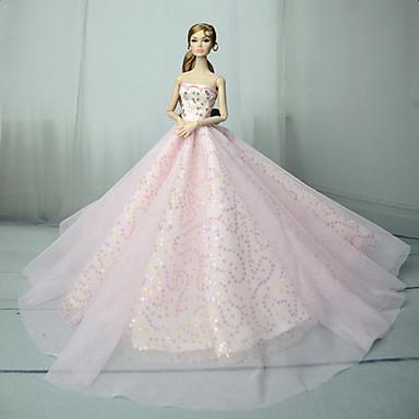 0b7b44697 Vestidos Vestir por Barbiedoll Rosa Tul   Tela de Encaje   Lentejuela  Vestido por Chica de