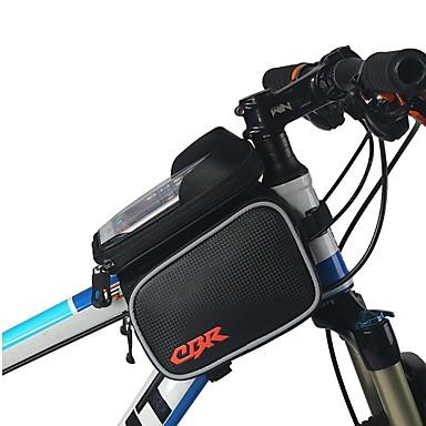 billige Sykkelvesker-Mobilveske Vesker til sykkelramme 6 tommers Berøringsskjerm Sykling til iPhone 8 Plus / 7 Plus / 6S Plus / 6 Plus Svart Sykkel
