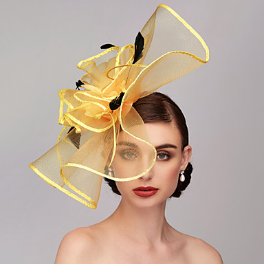 tanie Imprezowe nakrycia głowy-Pióro / Siateczka Kentucky Derby Hat / Fascynatorzy / Nakrycie głowy z Pióro / Kwiaty / Kwiat 1 szt. Ślub / Specjalne okazje Winieta