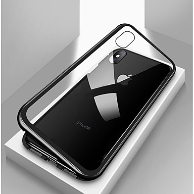 tok Για Apple iPhone X / iPhone 8 / iPhone 8 Plus Ανθεκτική σε πτώσεις / Διαφανής / Μαγνητική Πλήρης Θήκη Μονόχρωμο Σκληρή Ψημένο γυαλί / Μεταλλικό για iPhone X / iPhone 8 Plus / iPhone 8