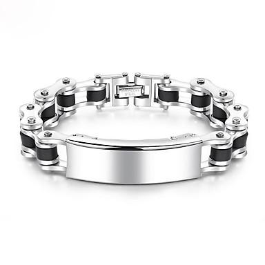 voordelige Herensieraden-Heren Armbanden met ketting en sluiting Dikke ketting Europees Modieus Titanium Staal Armband sieraden Koel wit Voor Dagelijks / Platina Verguld