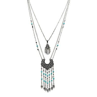 Žene Zelen Tirkiz Ogrlice s privjeskom Rese dame Tropical Šarene Renesansa Legura Pink 68 cm Ogrlice Jewelry 1pc Za Spoj Rad