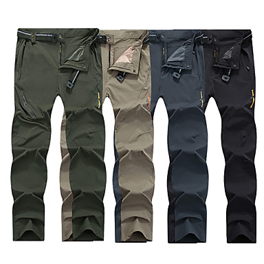 Men's Hiking Pants Outdoor Lightweight, Fast Dry, Breathability Autumn / Fall, Spring, Summer Spandex Pants / Trousers, Bottoms Hunting Fishing Hiking 4XL 5XL 6XL / UV Resistant