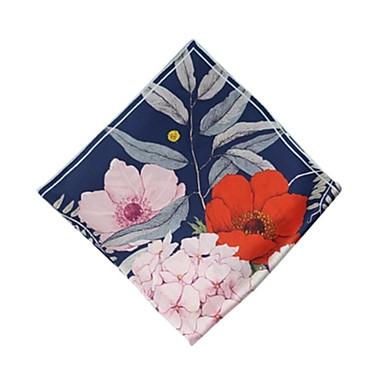 Недорогие Аксессуары для сумок-Шелк Шарф / лента Жен. Повседневные Синий