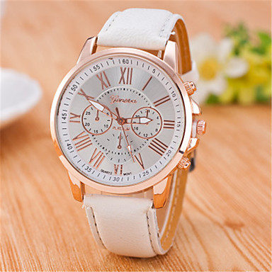 7868bfce3e4 Women s Wrist Watch Quartz Quilted PU Leather Black   White   Blue Casual  Watch Analog Fashion Elegant - Light Blue Khaki Light Green One Year  Battery Life
