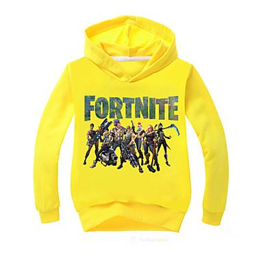 d8848d839f47 Kids Boys  Active Print Long Sleeve Regular Cotton Hoodie   Sweatshirt Red