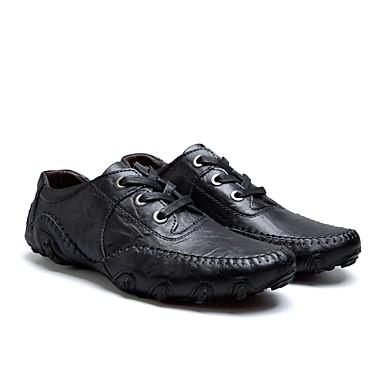 Muškarci Kožne cipele Koža Jesen zima Ležerne prilike Oksfordice Non-klizanje Crn / Braon
