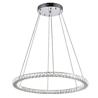 VALLKIN Cirkularno Lusteri Ambient Light Electroplated Metal Crystal, Prilagodljiv 110-120V / 220-240V Meleg fehér / Hladno bijela