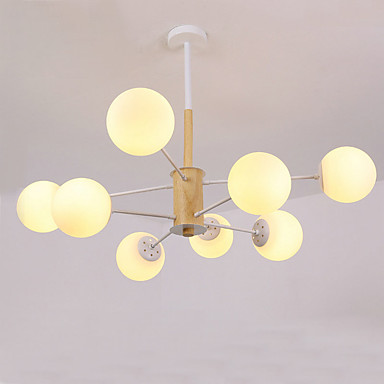 QINGMING® 8-Light Mini Lusteri Ambient Light Slikano završi Drvo Metal Glass Mini Style 110-120V / 220-240V