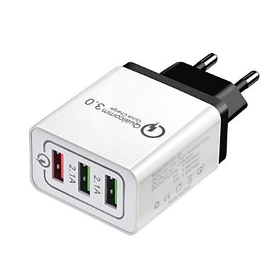 Prenosivi punjač USB punjač EU utikač Multi-izlaz / QC 3.0 3 USB portova 2.4 A DC 12V-24V za S9 / S8 / S7