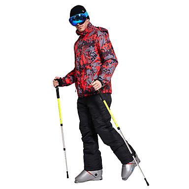 Wild Snow Męskie Kurtka i spodnie narciarskie Odporność na wiatr, Ciepłe, wodoodporne Narciarstwo / Piesze wycieczki / Multisport Poliester, 100% bawełna Zestawy odzieży Odzież narciarska / Zima
