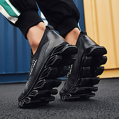 Homme Chaussures de confort Tissu élastique Printemps Sportif / / / Décontracté Chaussures d'Athlétisme Course à Pied Massage Noir / Noir / Rouge | De Haute Qualité Et De Bas Frais Généraux  a03fb6