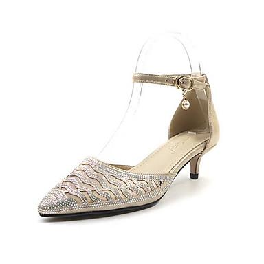 2019 Gold Silver Low Heel Shoes Woman Wedding Shoes Women