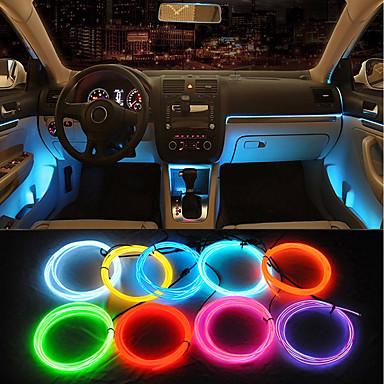 povoljno Svjetla za automobil-ziqiao 1 kom žičana veza 5m auto 12v 3w 30lm vodio hladna svjetla fleksibilna neon el žica auto svjetiljke na automobilu hladno svjetlo trake linija unutarnje uređenje trake svjetiljke za univerzalne