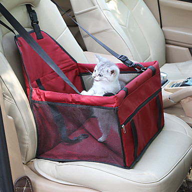 ราคาถูก อุปกรณ์สำหรับสัตว์เลี้ยง-แมว สุนัข สัตว์เลี้ยง Booster Seat สัตว์เลี้ยง ผู้ขนส่ง กันน้ำ Portable ระบายอากาศ สีพื้น แดง ฟ้า สีชมพู