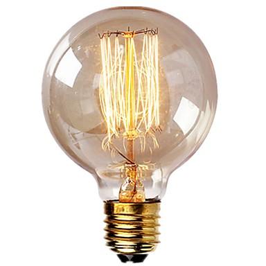 1pc Vintage Edison-Birnen mit Spiralfaden 40w dimmable e27 g95 runde Kugel großer antiker heller goldener Finish Industriedesign Bernstein